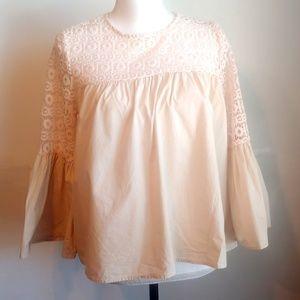 Endless Rose Boho Flowy Shirt with Lace